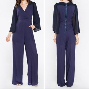 SugarLips NWT Valerie V-Neck Jumpsuit Blue Small